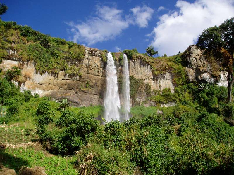 Sipi Falls in Mount Elgon National Park