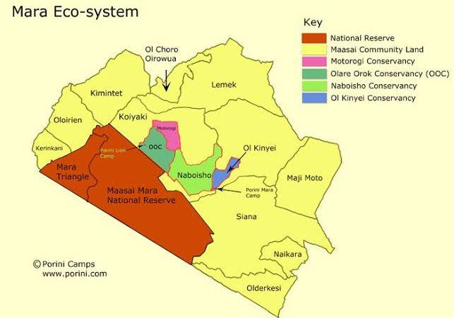 Map Of Masai Mara National Reserve